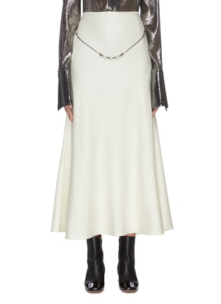 Main View - Click To Enlarge - ELLERY - 'Critical Acclaim' pearl beaded belt-detailed maxi skirt