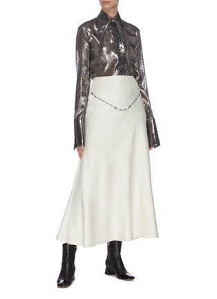 Figure View - Click To Enlarge - ELLERY - 'Critical Acclaim' pearl beaded belt-detailed maxi skirt