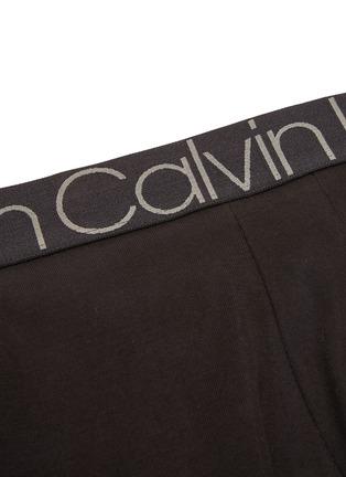 Detail View - Click To Enlarge - CALVIN KLEIN UNDERWEAR - 'CK Complex' logo waistband cotton boxer briefs