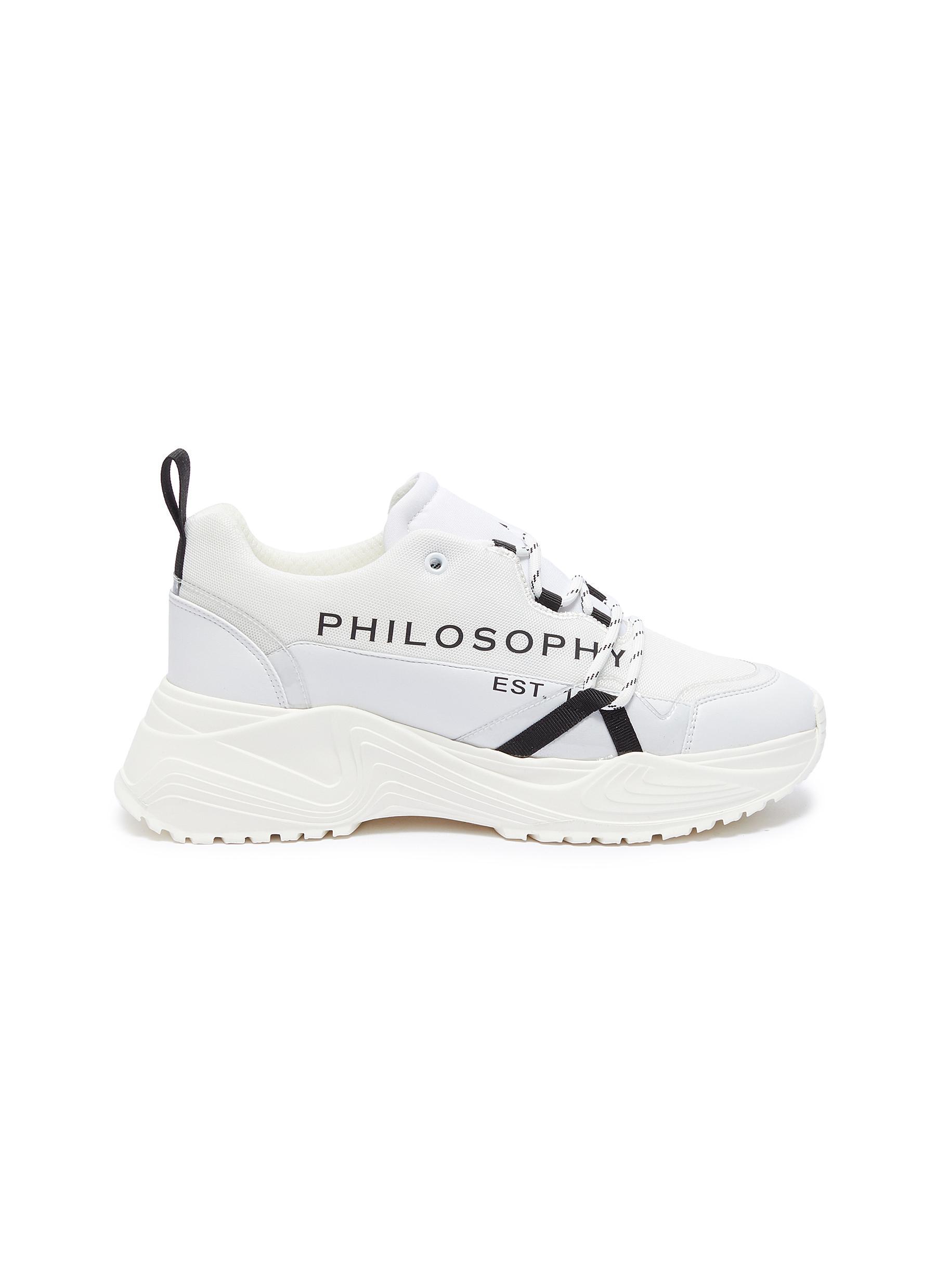 Logo print chunky mesh sneakers by Philosophy Di Lorenzo Serafini