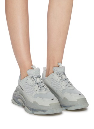 Figure View - Click To Enlarge - BALENCIAGA - Triple S' stack midsole mesh sneakers