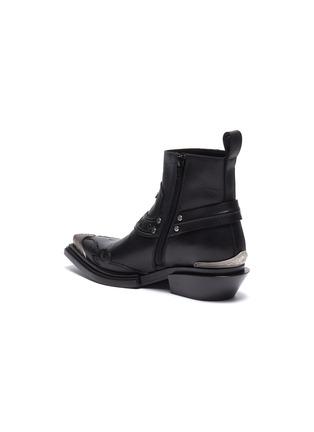 - BALENCIAGA - 'Santiag' metal toe cap leather ankle boots