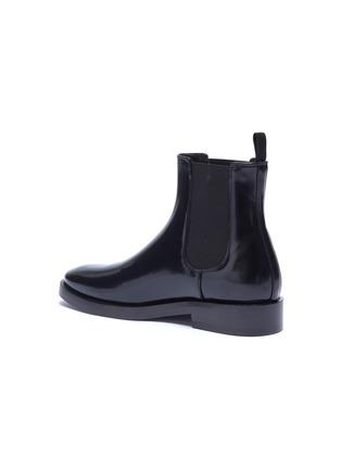 - BALENCIAGA - Logo print outsole leather Chelsea boots
