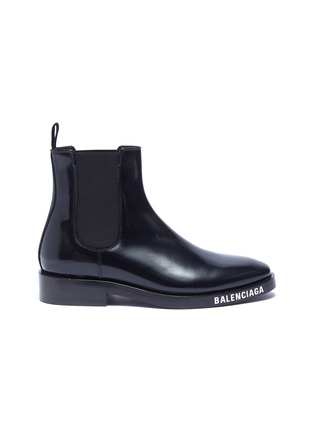 Main View - Click To Enlarge - BALENCIAGA - Logo print outsole leather Chelsea boots