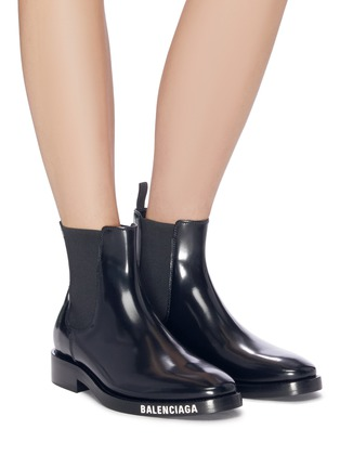 Figure View - Click To Enlarge - BALENCIAGA - Logo print outsole leather Chelsea boots