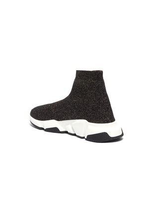 - BALENCIAGA - 'Speed' metallic knit slip-on sneakers