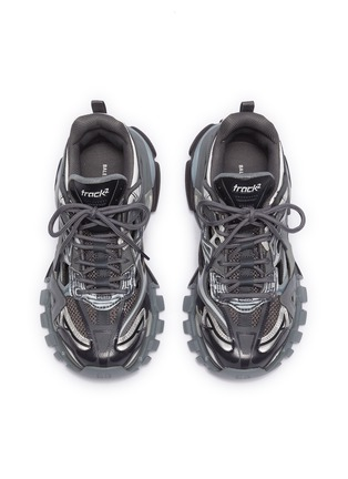 Detail View - Click To Enlarge - BALENCIAGA - 'Track.2' caged patchwork sneakers