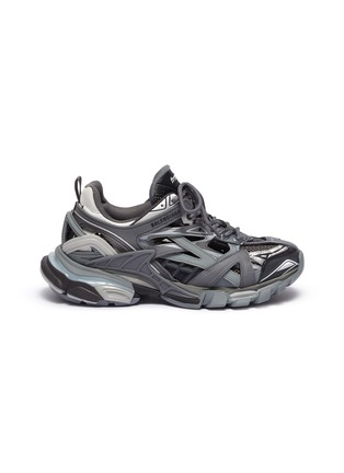 Main View - Click To Enlarge - BALENCIAGA - 'Track.2' caged patchwork sneakers