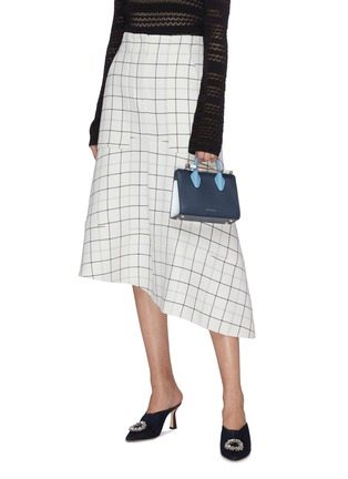 Front View - Click To Enlarge - STRATHBERRY - 'The Strathberry Nano' colourblock leather tote