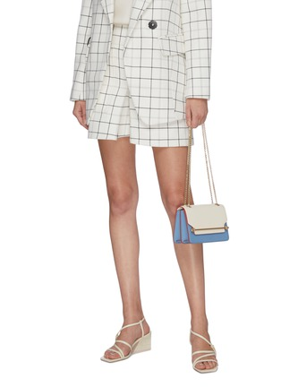 Front View - Click To Enlarge - STRATHBERRY - 'East/West' mini colourblock leather crossbody bag