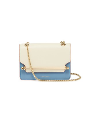 Main View - Click To Enlarge - STRATHBERRY - 'East/West' mini colourblock leather crossbody bag