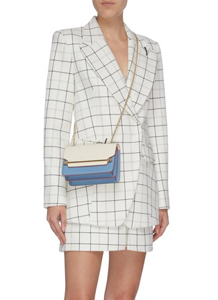 Figure View - Click To Enlarge - STRATHBERRY - 'East/West' mini colourblock leather crossbody bag