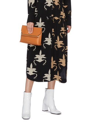 Front View - Click To Enlarge - STRATHBERRY - 'East/West Stylist' leather clutch