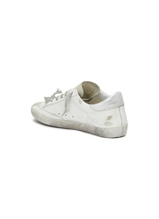 - GOLDEN GOOSE - 'Superstar' slogan print outsole leather sneakers