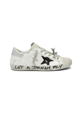 Main View - Click To Enlarge - GOLDEN GOOSE - 'Superstar' slogan print outsole leather sneakers