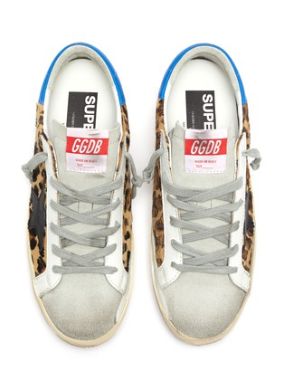 Detail View - Click To Enlarge - GOLDEN GOOSE - 'Superstar' leopard print panelled sneakers