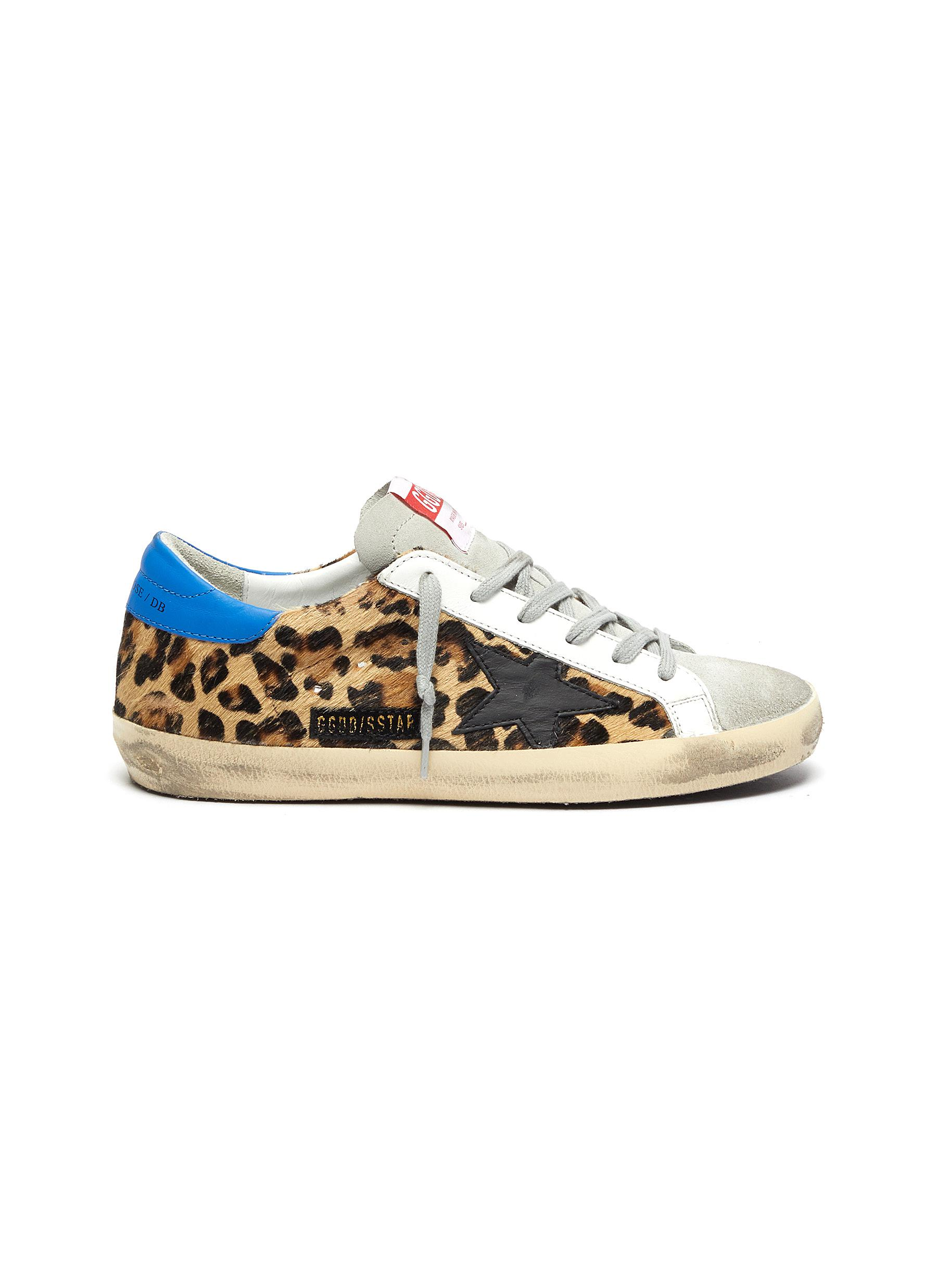 Superstar leopard print panelled sneakers by Golden Goose