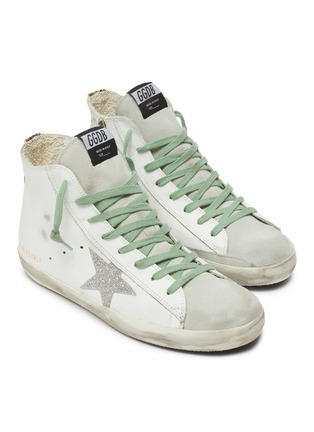 Detail View - Click To Enlarge - GOLDEN GOOSE - 'Francy' leather high top sneakers