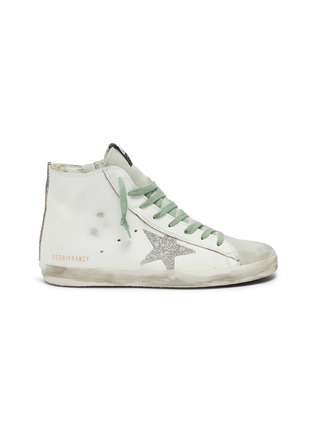 Main View - Click To Enlarge - GOLDEN GOOSE - 'Francy' leather high top sneakers