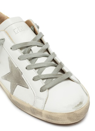 Detail View - Click To Enlarge - GOLDEN GOOSE - 'Superstar' embossed collar leather sneakers