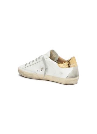 - GOLDEN GOOSE - 'Superstar' embossed collar leather sneakers