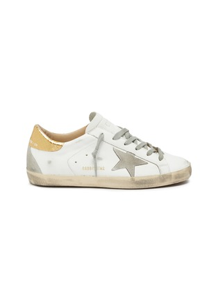 Main View - Click To Enlarge - GOLDEN GOOSE - 'Superstar' embossed collar leather sneakers