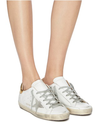Figure View - Click To Enlarge - GOLDEN GOOSE - 'Superstar' embossed collar leather sneakers