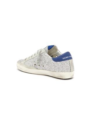 - GOLDEN GOOSE - 'Superstar' suede panel glitter sneakers