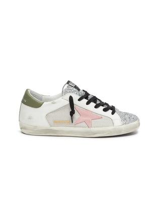 Main View - Click To Enlarge - GOLDEN GOOSE - 'Superstar' patchwork sneakers