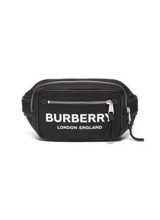 Main View - Click To Enlarge - BURBERRY - 'West' logo print bum bag