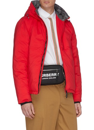 Figure View - Click To Enlarge - BURBERRY - 'West' logo print bum bag