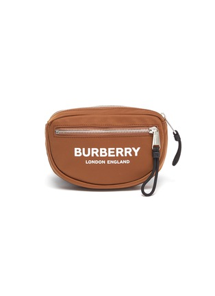 Main View - Click To Enlarge - BURBERRY - 'Cannon' logo print small bum bag