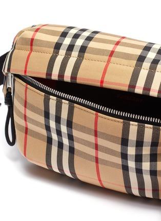 Detail View - Click To Enlarge - BURBERRY - Vintage check medium canvas bum bag