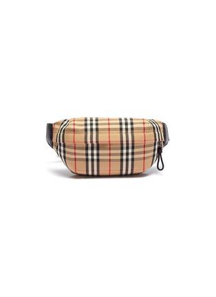 Main View - Click To Enlarge - BURBERRY - Vintage check medium canvas bum bag