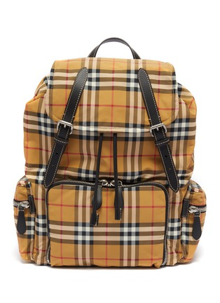 Main View - Click To Enlarge - BURBERRY - 'The Large Rucksack' in Vintage check