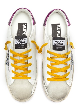 Detail View - Click To Enlarge - GOLDEN GOOSE - 'Superstar' leather sneakers