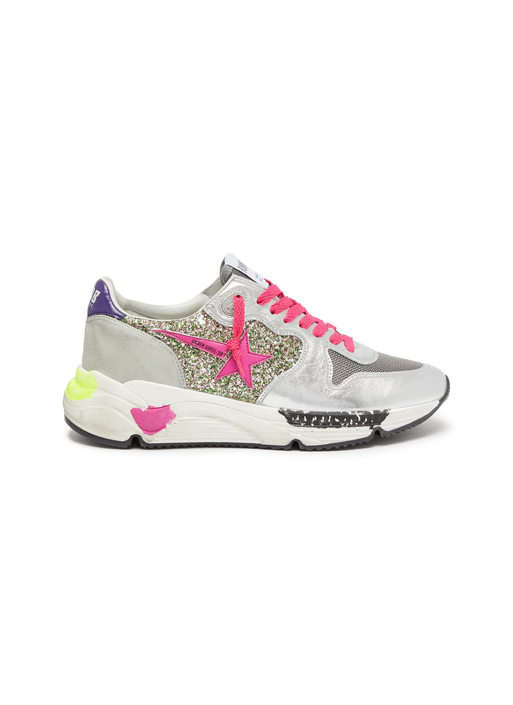 Running Sole chunky outsole patchwork sneakers by Golden Goose