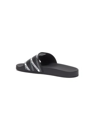 - BALENCIAGA - Logo tape print rubber pool slides