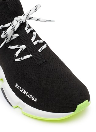 Detail View - Click To Enlarge - BALENCIAGA - 'Speed' lace-up knit sneakers