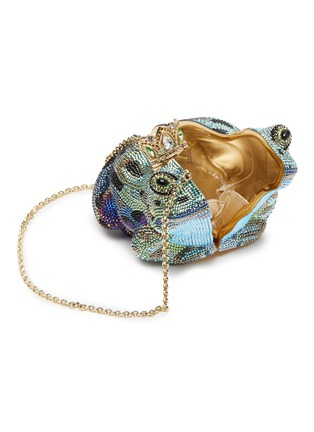Detail View - Click To Enlarge - JUDITH LEIBER - 'Prince Charming Frog' crystal pavé minaudière