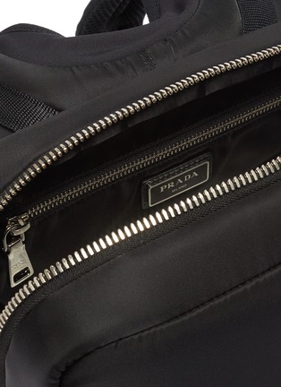 Detail View - Click To Enlarge - PRADA - 'Tesstuto' pocket patch nylon backpack