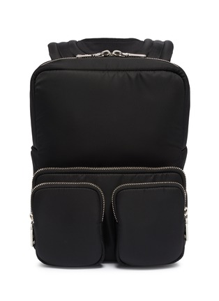 Main View - Click To Enlarge - PRADA - 'Tesstuto' pocket patch nylon backpack