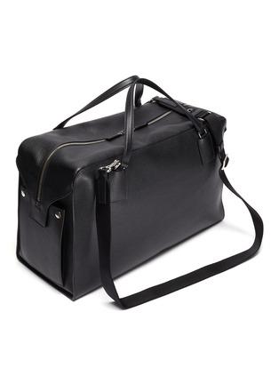 Detail View - Click To Enlarge - PRADA - Full leather Weekender bag