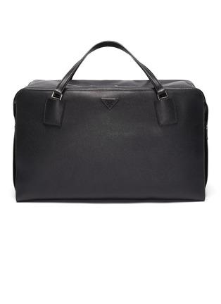Main View - Click To Enlarge - PRADA - Full leather Weekender bag