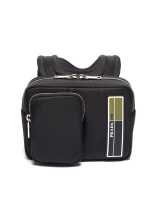 Main View - Click To Enlarge - PRADA - Logo patch pocket front mini backpack