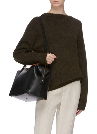 Front View - Click To Enlarge - MÉTIER - 'Perriand Slouchy' leather bag