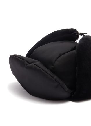 Detail View - Click To Enlarge - PRADA ACCESSORIES - Panelled gabardine hat