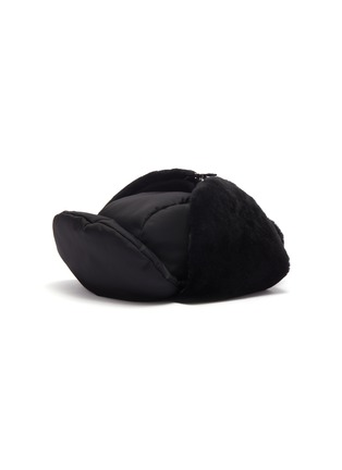 Main View - Click To Enlarge - PRADA ACCESSORIES - Panelled gabardine hat