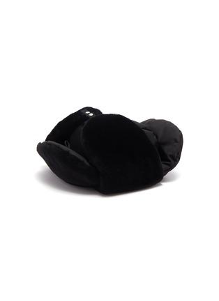 Figure View - Click To Enlarge - PRADA ACCESSORIES - Panelled gabardine hat