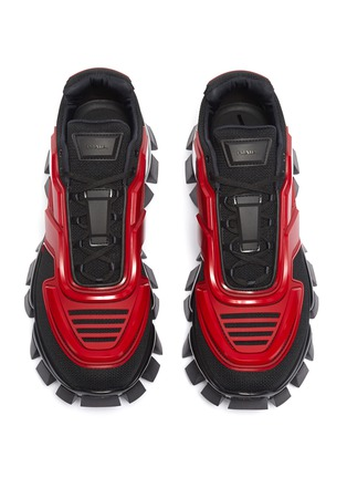 Detail View - Click To Enlarge - PRADA - 'Cloudburst Thunder' colourblock panelled chunky sneakers